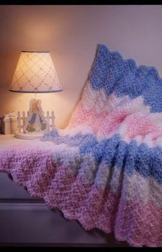 baby ripple crochet blanket