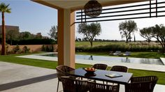 terrace by the pool.