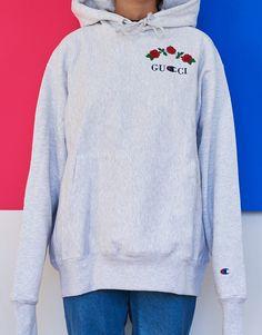 Gucci   Champion Hoodie Gucci Champion Hoodie, Champion Sweatshirt, Gucci  Sweatshirt, c970c7f38181