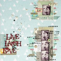 My take on Paper Stories July sketch. By Elina Stromberg #scrapbooking