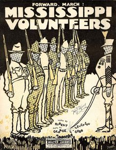 Mississippi volunteers; Forward, march!. From Duke Digital Collections. Collection: Historic American Sheet Music. Plate no.:  3816-2.