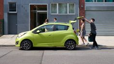 The electric cars are the future! See our latest comparison between the 2013 Nissan Leaf Electric and the 2014 Chevy Spark Electric here. 2013 Chevy Spark, Chevrolet Spark, 2013 Nissan Leaf, Fuel Efficient Cars, Hatchback Cars, Automotive Group, City Car, Future Car, Driving Test