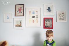 art gallery in kids room