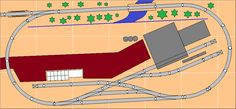 Mike's Small Trackplans Page N Scale Train Layout, Ho Train Layouts, N Scale Layouts, Lionel Trains Layout, Escala Ho, N Scale Model Trains, Model Railway Track Plans, Ho Trains, Ho Scale