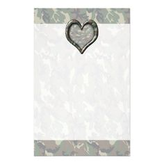 #Camouflage Woodland Forest Heart Stationery by #camouflage4you  shipping to Benton, PA