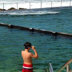 Autumn swimming in Sydney, Bronte Baths