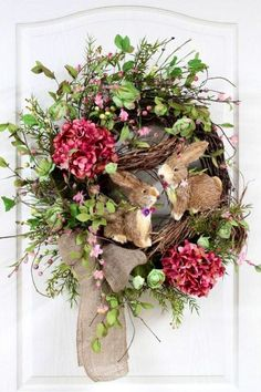 Sweet Easter/Spring wreath.