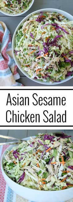 Asian Sesame Chicken Salad | Whole Sisters