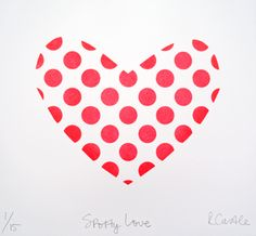 Rachel Castle spotty love screen print $210