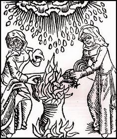 Woodcut of witches at a cauldron from 17th-century American Women blog.  Excellent blog 4137883c1f125