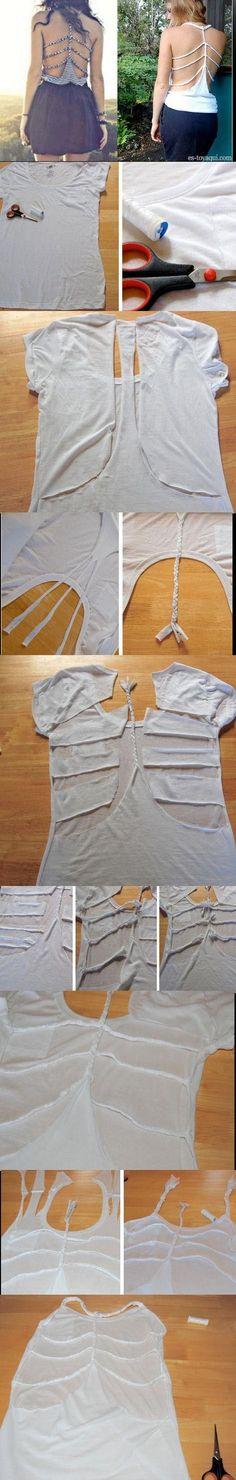 Braid Back Skeleton Shirt