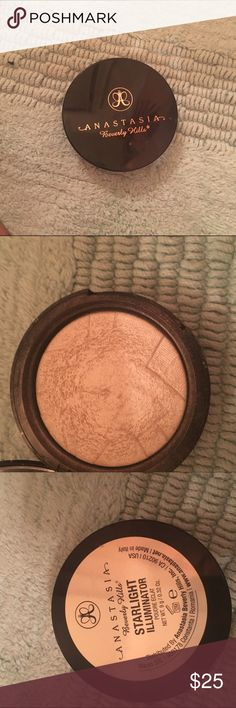 ABH Illuminator Starlight Highlight Used, condition is pictured. Product will be sanitized upon sale. No trades. Anastasia Beverly Hills Makeup Luminizer