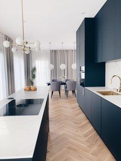Kitchen Room Design, Modern Kitchen Design, Home Decor Kitchen, Interior Design Kitchen, Home Kitchens, Interior Plants, Home Decor Quotes, Minimalist Home Interior, Cuisines Design