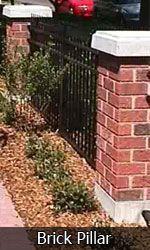 Self-install brick pillars