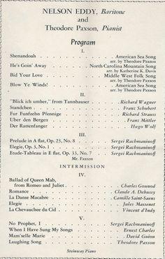 Jeanette Macdonald Song Recital Rare  Programme  Programs