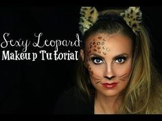 Sexy Leopard (Cat) Halloween Makeup Tutorial | Angela Lanter - YouTube