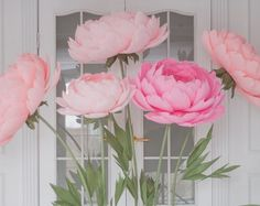 Standing Giant Paper Flowers - Self-standing Paper Flowers - Paper Flowers on the metal base, stand
