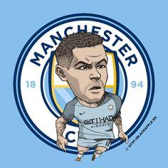 Manchester City No.11 Alexandar Kolarov Fan Art