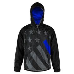 Thin Blue Line Tactical USA Flag Hoodie Sweat Shirt NWT Police Law Enforcement