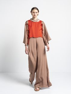 IOANNA KOURBELA PANT GENTLE FLUIDITY 20294-12872 Harem Pants, Trousers, Unity, Greece, Women, Fashion, Trouser Pants, Greece Country, Moda