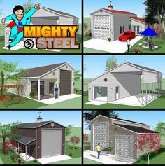 Bradley Mighty Steel RV Garage for sale, RV Shelter pricing 8x12 Shed Plans, Shed Floor Plans, Pole Barn House Plans, Pole Barn Homes, Barn Plans, Rv Homes, Cabin Homes, Motor Homes, Rv Shelter