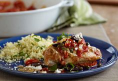 You'll get all the flavors of the Mediterranean in this dish featuring pan-seared chicken breasts in a sauce made with sun-dried tomatoes, chicken stock, garlic and lemon. Topped with olives, capers, fresh basil and feta, the result is a restaurant-quality meal that's ready in less than an hour!