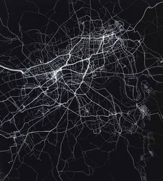 This is a very interesting and creative design. The use of outlining the roads in an area and darkening the buildings works incredibly well as a design which maybe taken on as a design idea.