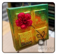 "6"" X 6"" - Canvas....Bloom   by Tracy Weinzapfel"