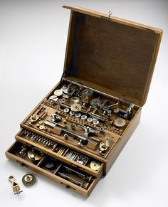 Watchmakers lathe in a box