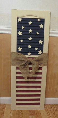 Americana flag shutter
