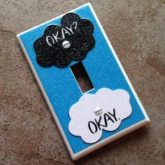 "HANDMADE ""The Fault In Our Stars"" inspired GLITTER Light Switch Cover"