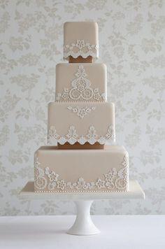 805f9289df187d Wedding cake inspired by Georgian lace Wedding Cake Designs