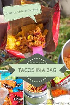 Tacos in a Bag - A Great Camping or Picnic Meal for Kids and Adults