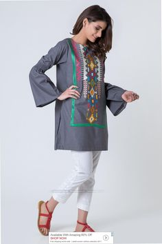 Khaadi Luxury Pret 2017 Price in Pakistan famous brand online shopping, luxury embroidered suit now in buy online & shipping wide nation. Simple Pakistani Dresses, Pakistani Fashion Casual, Pakistani Outfits, Indian Outfits, Stylish Dresses, Casual Dresses, Casual Outfits, Fashion Dresses, Casual Frocks