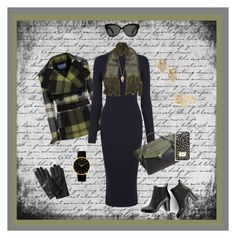 """""""A Touch of Fall Green"""" by krusie ❤ liked on Polyvore featuring Warehouse, Pamela Love, SWEET MANGO, Étoile Isabel Marant, Danielle Nicole, Kate Spade, Ted Baker, Larsson & Jennings, MICHAEL Michael Kors and Banana Republic"""