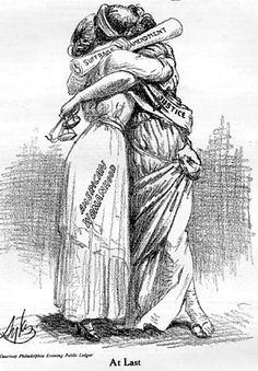 """""""At Last"""", cover on 'The Suffragist', Saturday, June In September 1918 President Wilson endorsed the amendment granting women the right to vote. It took nine months from Wilson's endorsement until Congress passed the amendment in June Note: not all women! Us History, Women In History, American History, Les Suffragettes, Belle Epoque, 19th Amendment, Equal Rights Amendment, Women Right To Vote, Maleficarum"""