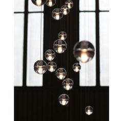 Modern LED Bulb Globe Crystal Pendant Light Ceiling Lamp Dining Room Chandelier #ouku #GlobeModernContemporary