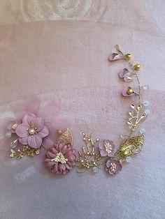 Bijoux de tête fleurs roses