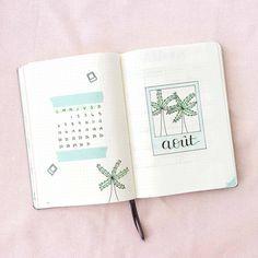 Bullet Journal August A summer layout Manayin