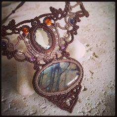 Macrame Jewelry MANO @macrame_jewelry_mano ラブラドライト×グ...Instagram photo | Websta (Webstagram)