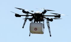 First successful drone delivery made in the US Everyday delivery moves one step closer as Federal Aviation Authority-approved drone successfully deposits medicine to rural health clinic