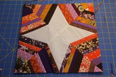 12.5 inch spider web quilt block tutorial