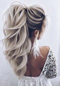 34 trendy silver / gray hairstyle ideas for 2019 - cool trendy silver / gray hairstyle ideas for 2019 frisur ideen silber trendy medium length hair color - new best hairstyleMedium length Hair Do For Prom, Hair For Party, Wedding Hairstyles For Women, Blonde Wedding Hairstyles, Wedding Hair Blonde, Hair Styles For Wedding, Big Wedding Hair, Wedding Hair Colors, Hot Hair Colors