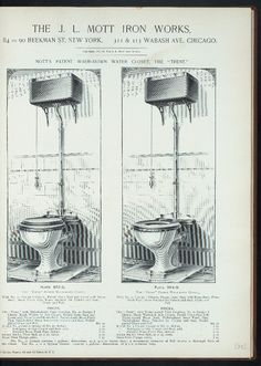 Mott's patent wash-down water closet, the 'Trent.' Plate 963-G ; Plate 964-G. 1877-1883.