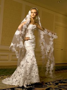 Spanish wedding gown - California Wedding:  http://www.FresnoWeddingPlanner.com/