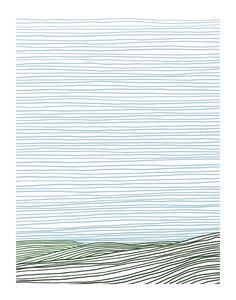 Stripe Landscape: Green Hills Wall Art Prints by Jorey Hurley | Minted