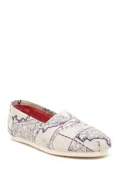 TOMS Old Venice Map Classic Slip-On Shoe on HauteLook
