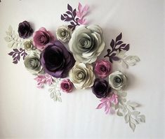 Large Paper Flowers, Paper Flower Wall, Paper Flowers Wall Decor, Wedding Backdrop This dramatic wall art has so many fun ways to use! Large paper flowers would be perfect for set designs, boutique store front, wedding or party backdrop. Use them to welcome your guests and make your event