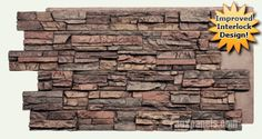 Regency Stacked Stone | Simulated Siding. Love this for casual dining wall and surrounding fireplace