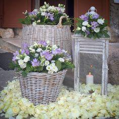 Wedding flowers romantic -country style -γάμος στην εξοχή